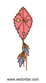 Isolated dream catcher with feathers vector design