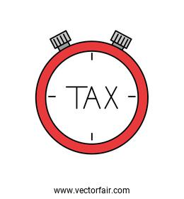 Isolated tax chronometer vector design