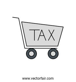 Isolated tax cart vector design