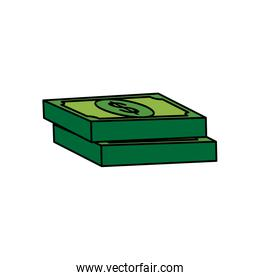 Isolated money bills vector design