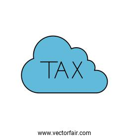 Isolated tax cloud vector design