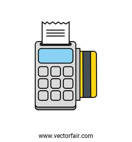 Isolated money credit card and dataphone vector design