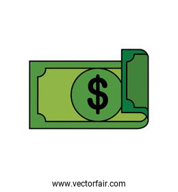 Isolated money bill vector design