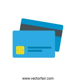 Isolated money credit card vector design