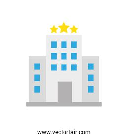 Isolated hotel building icon vector design