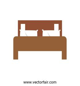 Isolated home bed vector design