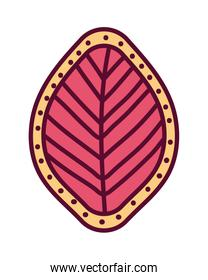 Isolated pink leaf vector design