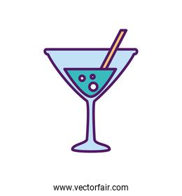 Isolated alcohol cocktail vector design