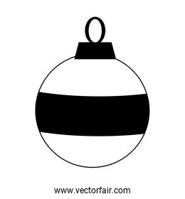 christmas ball ornament icon, flat design