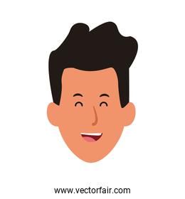 happy young man icon, flat design