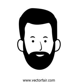 adult man with beard icon
