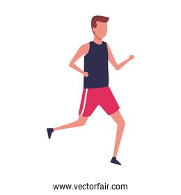 avatar man with sport clothes, colorful design