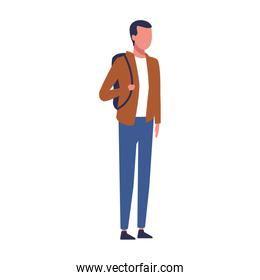 avatar man with casual clothes, colorful design