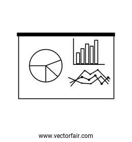 graph charts icon linear style icon