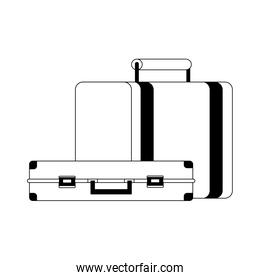 travel briefcases linear style  icon