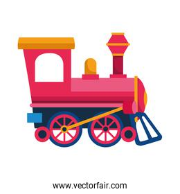 train icon image, flat design