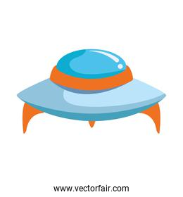 flying saucer icon, colorful design