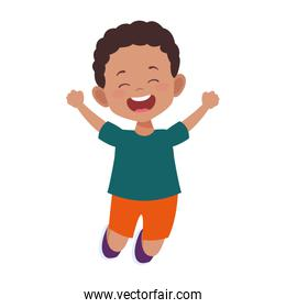 excited boy jumping icon