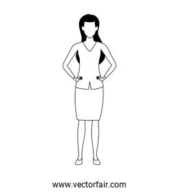 avatar woman standing icon