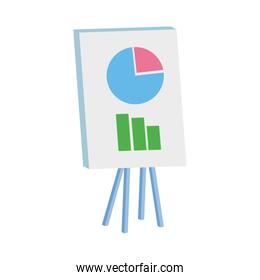 presentation board with graphic chart