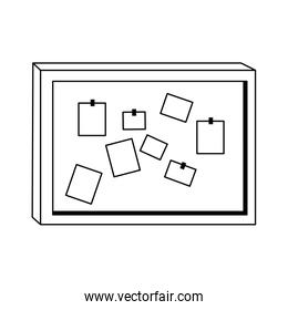 note board with notes icon, flat design