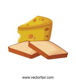 loaf and cheese piece design