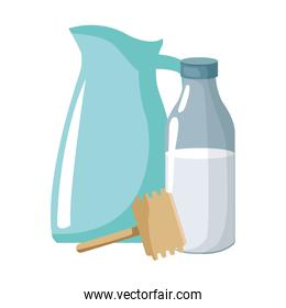 milk bottle and pitcher icon