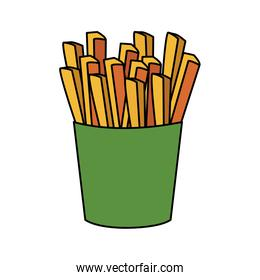 french fries box icon, colorful design