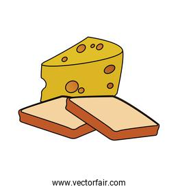 loaf and cheese piece icon