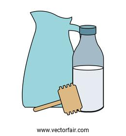 milk bottle and pitcher utensils  icons