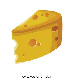 piece of cheese icon, colorful design