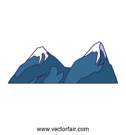 snowy mountains icon, colorful design