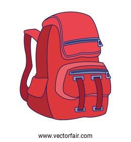 backpack icon, colorful design
