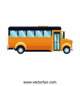 side view of school bus icon, colorful design