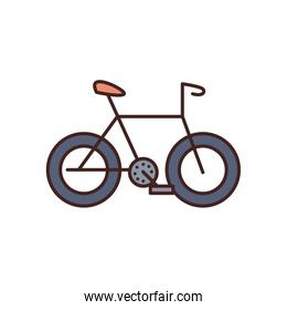 Isolated bike fill style icon vector design