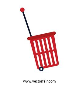 shopping rolling basket icon, colorful design