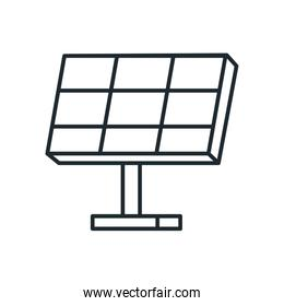 Isolated solar panel line style icon vector design