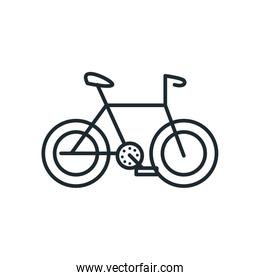 Isolated bike line style icon vector design
