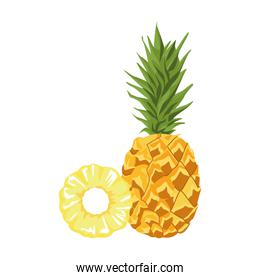 pineapple fruit icon, colorful design