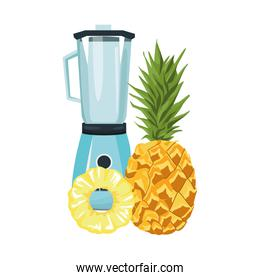 pineapple and blender icon