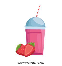 strawberry smoothie cup icon