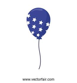 blue balloon with stars design