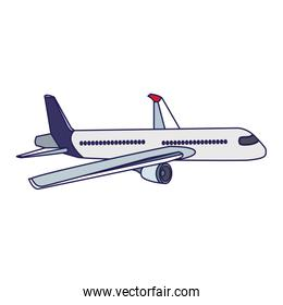 airplane icon image, flat design