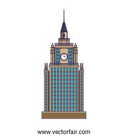 city building tower icon, flat design