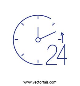 24 hour attention signaling isolated icon
