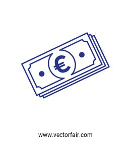 stack of bills euro isolated icon