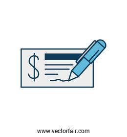 check of bank isolated icon