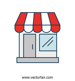 store facade structure isolated icon