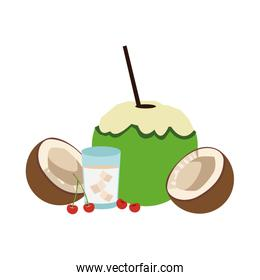 coconuts and coconut drink