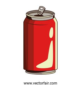 soda can icon, flat design